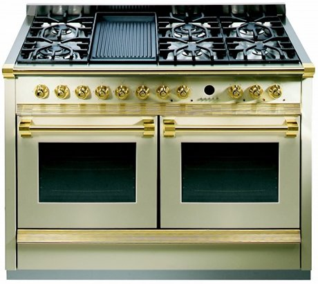 120cm range cooker by steel with twin ovens - Cucine fratelli onofri ...