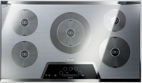 Thermador 36 Inch Silver Mirrored Induction Cooktop Jpg