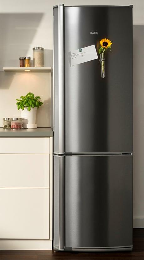 AEG Santo stainless fridge freezer
