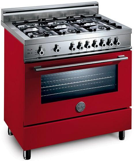 Bertazzoni Range Pro Series 36 Inch Red Jpg