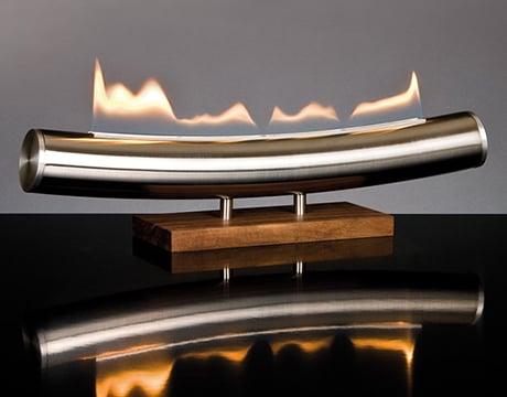 Smokeless deco fireplace by Wieser