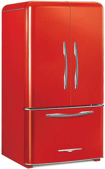 Elmira Stove Works 1948cr French Door Candy Red
