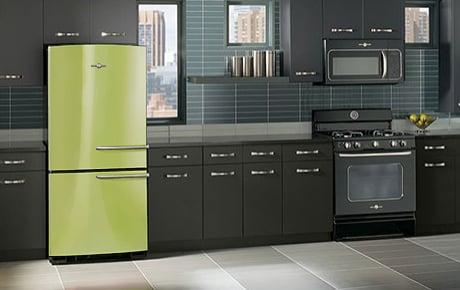 Ge Artistry Retro Refrigerator Lime Jpg