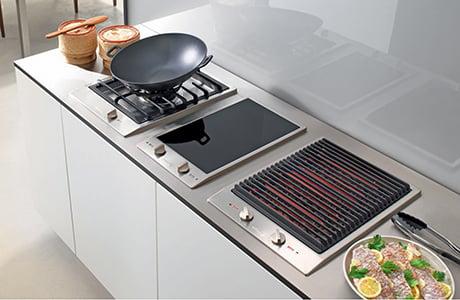 Miele CombiSet indoor barbecue grills