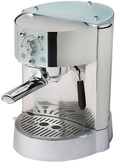 espresso machine with water line