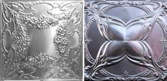 kitchen-metal-backsplash-tiles-pressed