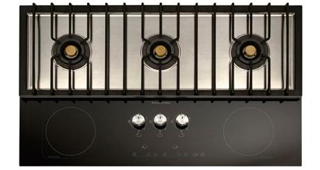 kitchenaid 90cm step gas induction hob. Black Bedroom Furniture Sets. Home Design Ideas