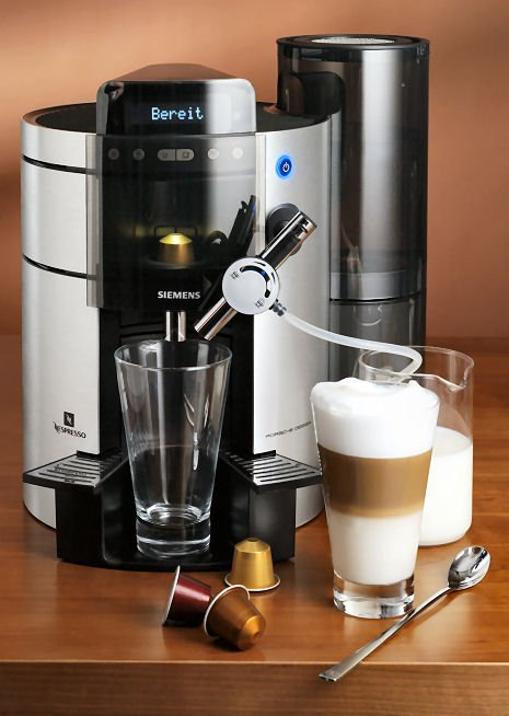 nespresso machine siemens porsche design. Black Bedroom Furniture Sets. Home Design Ideas
