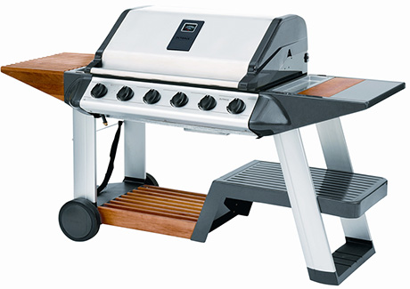 Outback barbecue new excelsior 6 burner gas grill for Modern barbecue grill