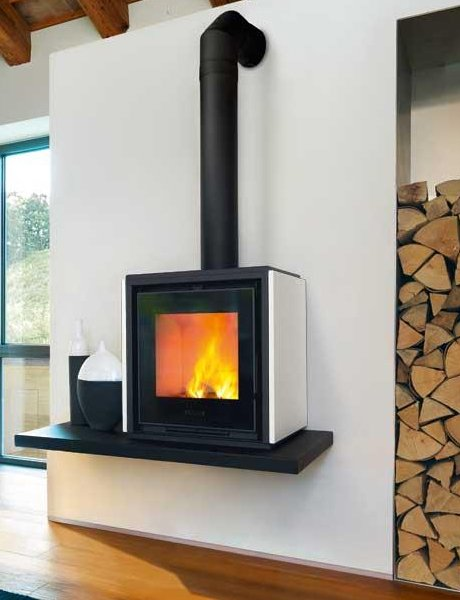 Piazzetta Qube1 Contemporary Wood Burning Stove Jpg