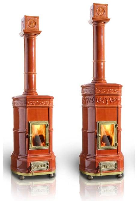 La Castellamonte tiled wood stoves