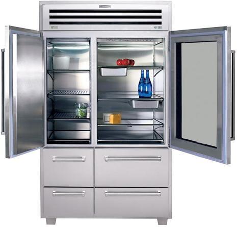Sub Zero Pro 48 Refrigerator Gl Open Jpg