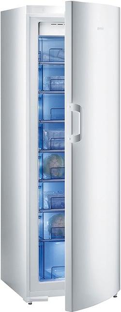Narrow upright freezer